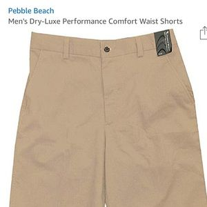 NWOT Pebble Beach Dry Luxe Performance Shorts 32